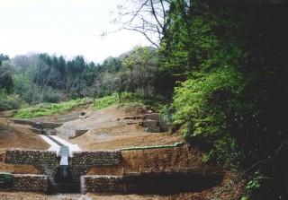 地すべり、治水工事(下正善寺地内)